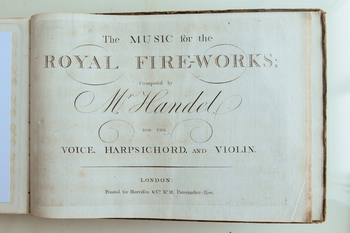 A first edition of Handel's Music for the Royal Fireworks