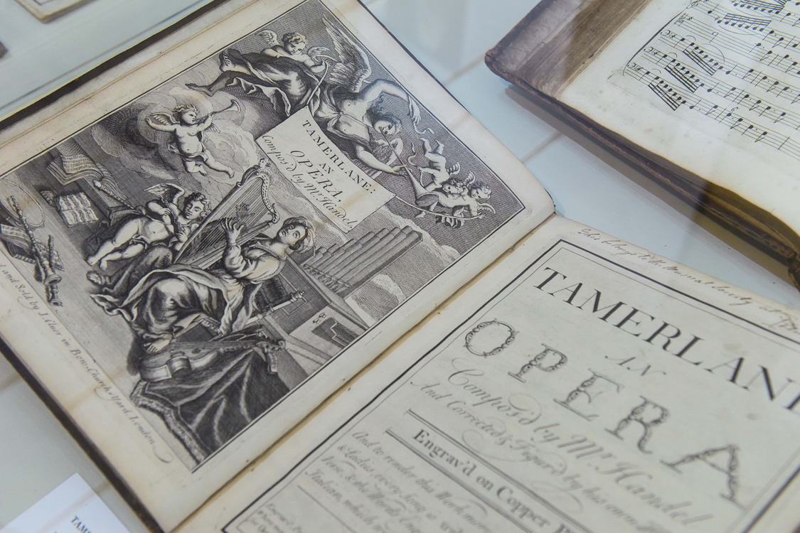A first edition of Handel's opera Tamerlano