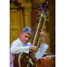 Pushparaj Koshti performs the surbahar, a rare bass sitar