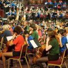 The students performed alongside RPO musicians to form a 251-piece orchestra - t