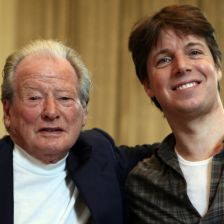 Joshua Bell with ASMF founder Sir Neville Marriner