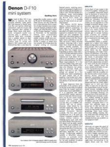 Review: Denon D-F10 mini system