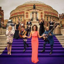 Proms presenter Katie Derham and 2013 Proms artists (BBC / Robert Viglasky)