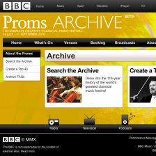 Step back in time: the BBC Proms Archive site