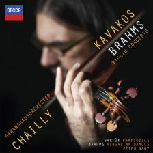 478 5342DH. BRAHMS Violin Concerto BARTÓK Rhapsodies. Leonidas Kavakos