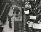 Barbirolli congratulates composer Philip Sainton after a rehearsal of his Nadir
