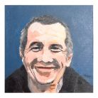 Formerly homeless artist David Tovey painted 'Gavin', part of a pair of portraits depicting 'Samuel Goldenberg and Schmuÿle'