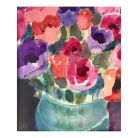 Jill Leman - President of the Royal Watercolour Society - contributed 'Anemone' (after Tuileries Gardens)