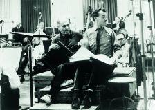 John Culshaw (right) with Georg Solti (Decca)