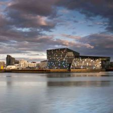 The magnificent Harpa Hall, Reykjavík - learn more about it below