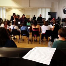 In rehearsal: the team prepare their multi-sensory opera (credit: Nell Ranney)