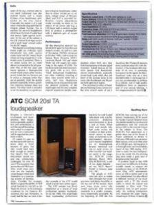 Review: ATC SCM 20sl TA loudspeaker