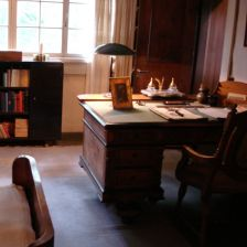 Where the sketches were written: Sibelius's desk at his home, Ainola