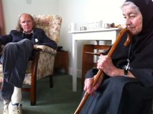 Mother Thekla, muse of Sir John Tavener, died on August 7 aged 93 (photo: courte
