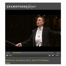 Watch Abbado from the perspective of Euroart's Conductor Cam