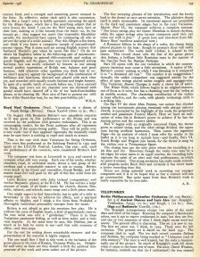 Benjamin Britten's first Gramophone review