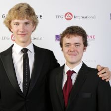 The 2013 Young Artist of the Year Jan Lisiecki with the 2012 recipient Benjamin Grosvenor