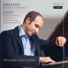PCL0086. BRAHMS Paganini Variations LISZT Mephisto Waltz. Consolation