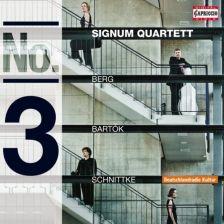 BERG; BARTÓk; SCHNITTKE String Quartets No 3. Signum Quartet