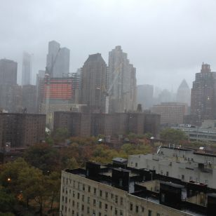 New York City is eerily calm a few hours before the arrival of Hurricane Sandy
