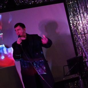 Marc Almond making his own X-ray records at London's Rough Trade