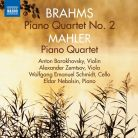 8 572799. BRAHMS Piano Quartet No 2 MAHLER Piano Quartet