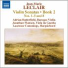 8 572866. LECLAIR Violin Sonatas Book 2, Nos 1-5 & 8. Adrian Butterfield